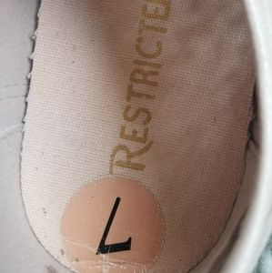 Restricted Shoes - Restricted Pink Laser Cut Sneakers Size 7